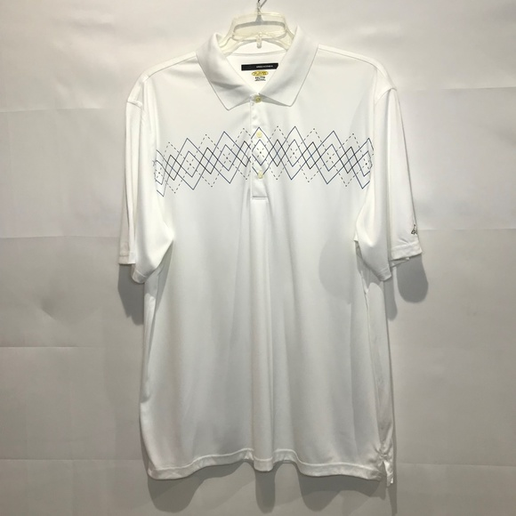 Greg Norman Collection Other - GREG NORMAN PLAY DRY White Argyle Shirt XXL